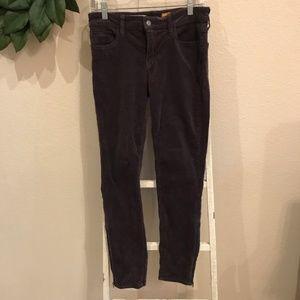 Anthropologie Pilcro Gray Corduroy Skinny Jeans